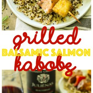 Let's keep the summer grilling tradition going today with this simple, irresistiblytasty recipe for Grilled Balsamic Salmon Kabobs.