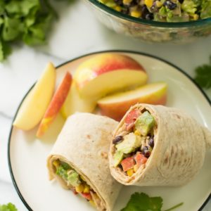 Southwest Chicken Salad Wraps- protein-packed chicken joined with a salsa dressing and a bounty of other flavorful ingredients, I picked up at Walmart, makes for such an incredibly tasty, easy meal!