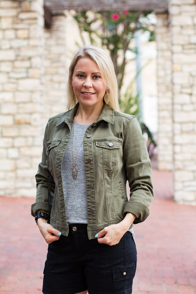 July 2017 Stitch Fix Review - Temma Denim Jacket by Liverpool