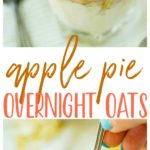 We're starting the day off right with easy Apple Pie Overnight Oats! This creamy, sweet, wholesome, heavenly breakfast recipe can be made in about 5 minutes and lasts several days in the refrigerator. Perfect to make in advance and take on-the-go!
