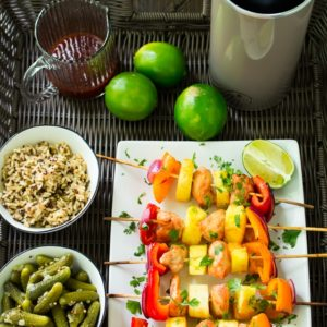 Grilled Sweet and Sour Chicken Skewers with Pampered Chef