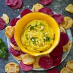 Golden Turmeric Cauliflower Hummus {paleo}