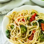 Roasted Veggie Spinach Pasta