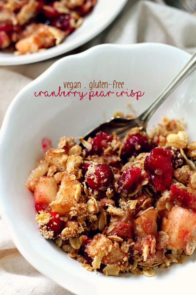 Healthy Cranberry Pear Crisp