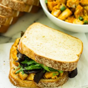 Brimming with savory fall flavors, this Barbecue Pumpkin Chicken Salad Sandwich is bound to be a lunch recipe you'll want to enjoy all season long!