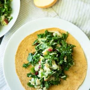 Autumn Kale Chicken Salad