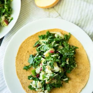 Autumn Kale Chicken Salad