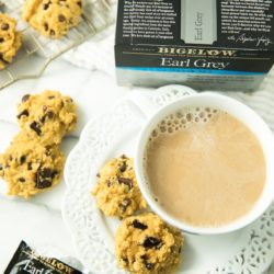 Warm up with a cozy mug of London Fog Tea and a side of yummy Paleo Pumpkin Chocolate Chip Cookies. You guys are going to love this winning combination!