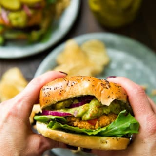Sweet Potato Veggie Burgers + Vitamix Giveaway!