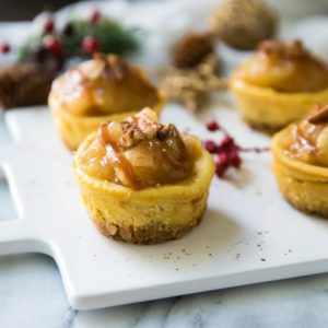 Easy Salted Caramel Mini Cheesecakes