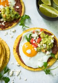 TheseBlack Bean Hummus Breakfast Tostadas will surely make all of your morning meal dreams come true! Bursting with fresh flavor and texture, this deliciousness will fuel you through the day!