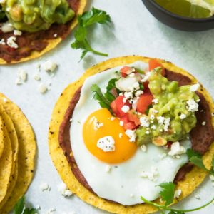 Black Bean Hummus Breakfast Tostadas