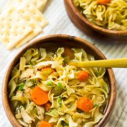 Loaded with good-for-you ingredients and full of flavor and comfort- this Easy Chicken Noodle Soupis perfect for chilly weather, but not too heavy for warmer days!