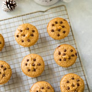 These quick and easyGingerbread Protein Muffins are a spicy-sweet, cozy grab-n-go option for breakfast or snack that is healthy and gluten free!
