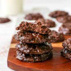 no bake cookies staked on top of each other