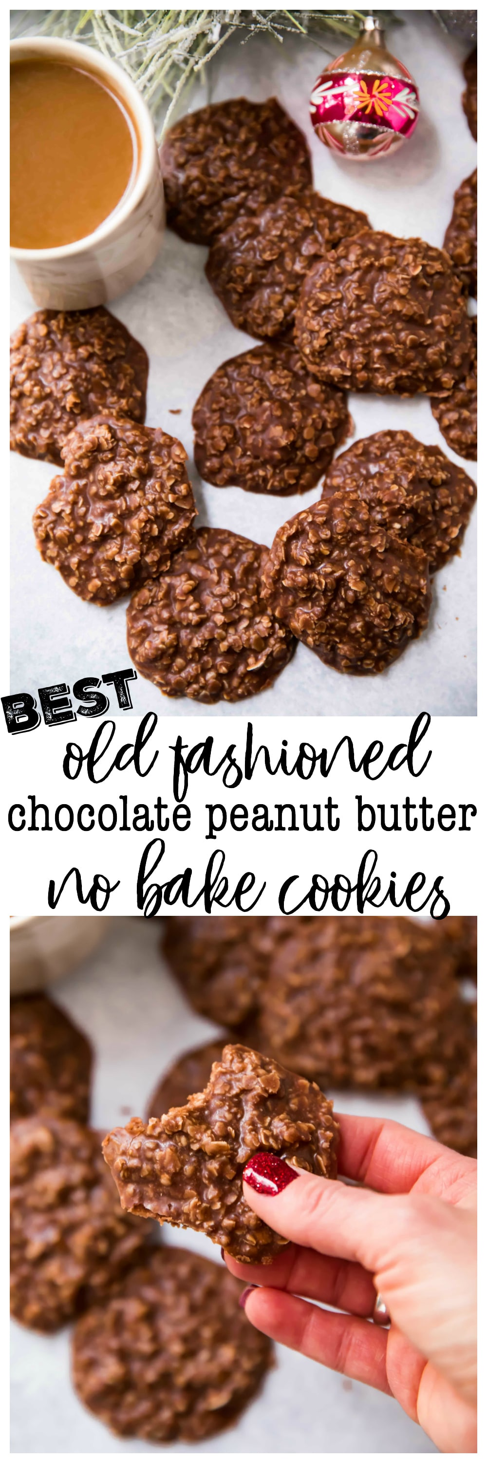 The Best Old Fashioned Chocolate Peanut Butter No Bake Cookies ...