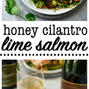 This Honey Cilantro Lime Salmon is simple, delicious and perfect for an easy family meal as well as impressive enough for a dinner party. Serve with Gloria Ferrer for a real stunner!