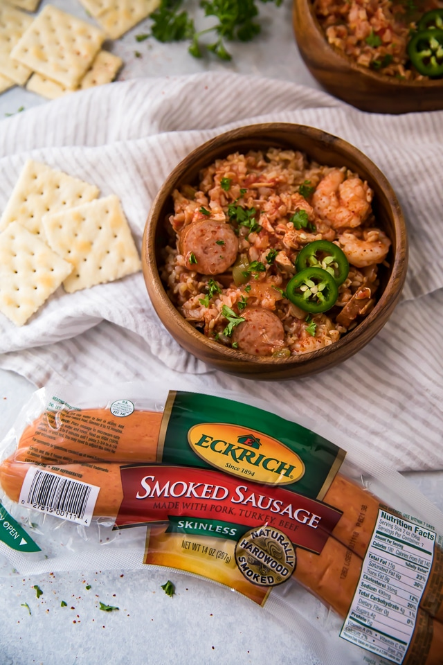 This flavorful Slow Cooker Jambalaya recipe is super easy to make, and full of bold Cajun flavors that everyone will love!