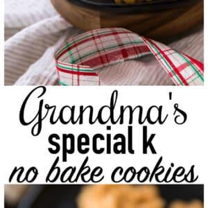 Grandma's Special K No Bake Cookies - Kim's Cravings