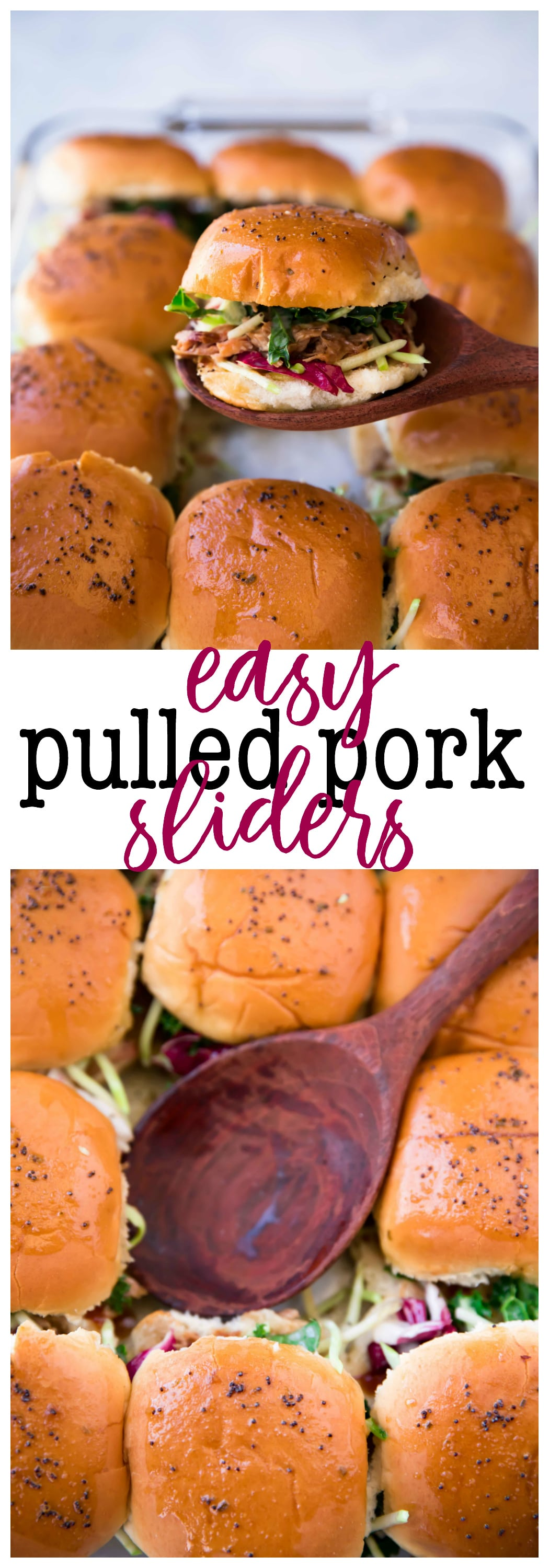 These Easy Pulled Pork Sliders are super quick to whip up, full of flavor, andabsolutely drool worthy. Top them with your favorite coleslaw for an extra special touch.