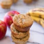 Flourless Banana Apple Muffins