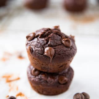 Best Healthy Double Chocolate Banana Muffins