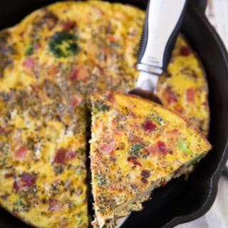 Tasty Bacon Veggie Frittata