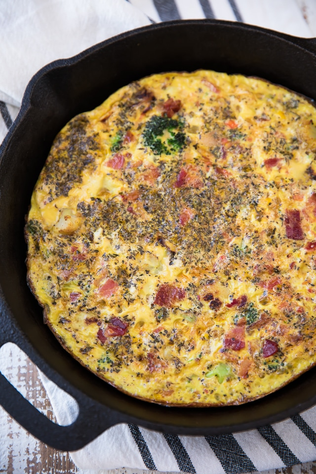 Tasty Bacon Veggie Frittata - Kim's Cravings