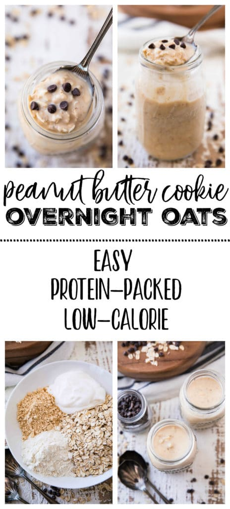 If you're as obsessed with overnight oats as I am, you can never have too many combinations! These Peanut Butter Cookie Overnight Oats are the EASIEST healthy, protein-packed breakfast of all time, and so delicious.