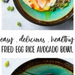 This hearty and filling Easy Fried Egg, Rice, Avocado Bowlwill warm you up, fill you up, and STILL help you fit into your skinny jeansbecause it's loaded with protein, fiber, and essential vitamins and minerals!