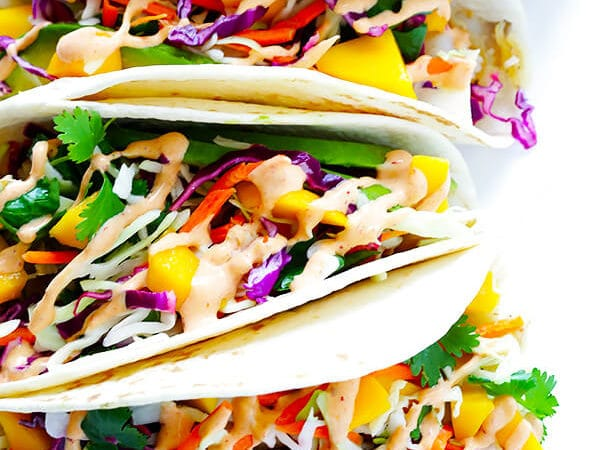 LOVED these tacos. The sauce was so perfect for them and the slaw was awesome. I added a little extra mango to the slaw and extra spicy to the sauce. So yummy and can't wait to make them again.