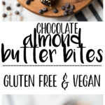 These healthy Chocolate Almond Butter Bites are a perfect treat for any party and a tasty option for those with peanut allergies. They seriously taste like a decadent dessert but are made with NO grains, eggs, or refined sugars. They're gluten-free, vegan, and a healthy and delicious way to satisfy those chocolate cravings!