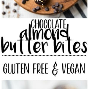 These healthy Chocolate Almond Butter Bitesare a perfect treat for any party and a tasty option for those with peanut allergies. They seriously taste like adecadent dessertbut are made with NO grains, eggs, or refined sugars.They're gluten-free, vegan, and ahealthyand deliciouswayto satisfy those chocolate cravings!