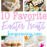 Spring has sprung and Easter Sunday is right around the corner. Today I've got 10 favorite Easter treats to help complete your Easter menu. Not only are all of these recipes perfect for Easter serving, they are desserts you'll want to enjoy all spring long.