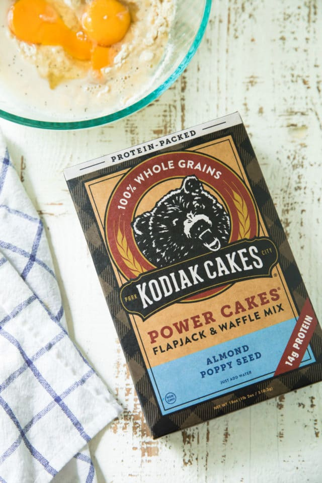 Fluffy and piled high, these Almond Poppy Seed Power Cakes arethe sweetest way to wake up in the morning! They are easy as can be and packed with whole wheat goodness, protein and the most delicious almond flavor.