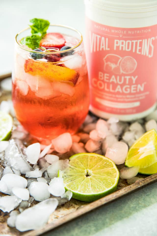 photo of Rosé Tequila Summertime Cocktail and Vital Proteins Beauty Collagen