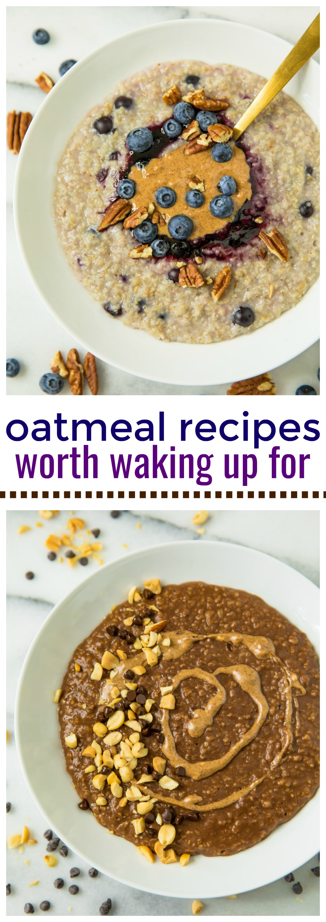 These Three Favorite Oatmeal Recipes Worth Waking Up For will give you new reasons to rise and shine. Oatmeal is such a satisfying, healthy morning meal and with add-in options like chocolate and almond butter, it's far from boring.