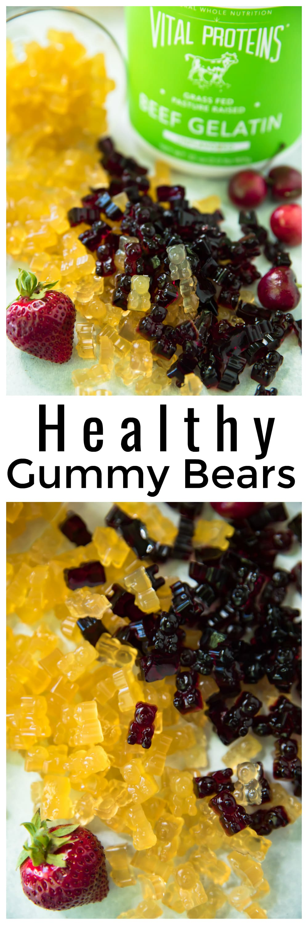 These Healthy Gummy Bears couldn't be easier to make! The three delicious options, Apple, Strawberry Lemonade and Tart Cherry, are flavored with natural fruit juice and gut-healing gelatin for a superfood boost.