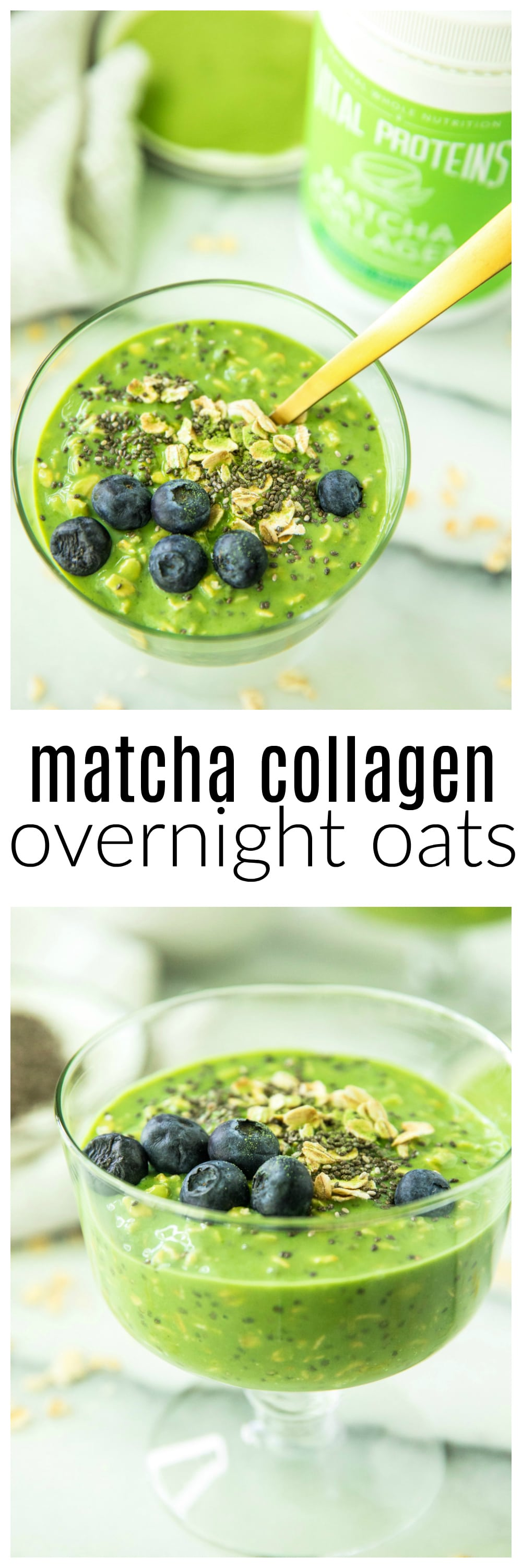 Got 5 minutes? Prep Matcha Collagen Overnight Oats before heading off to bed - the next morning enjoy a breakfast packed with fiber, antioxidants, and delicious flavor!