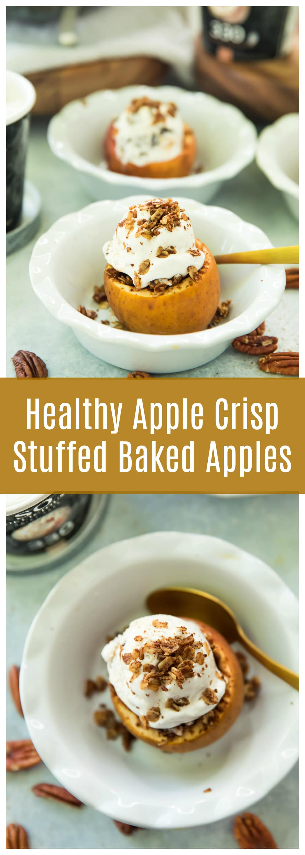 Let's add Healthy Apple Crisp Stuffed Baked Apples to that prized collection of sneaky recipes that look and feel super-duper special and five-star fancy, but are actually a great way to eat more dessert with minimal effort.