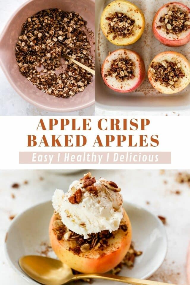 instructions for Apple crisp baked apples