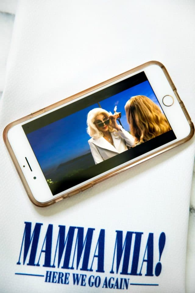 Mamma Mia 2 on digital download shown on iPhone