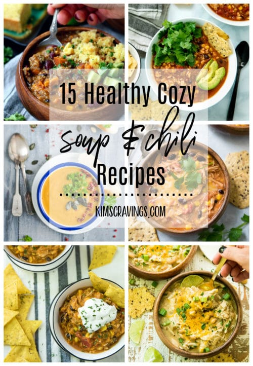 Pinterest image for 15 Healthy Cozy Soup & Chili Recipes