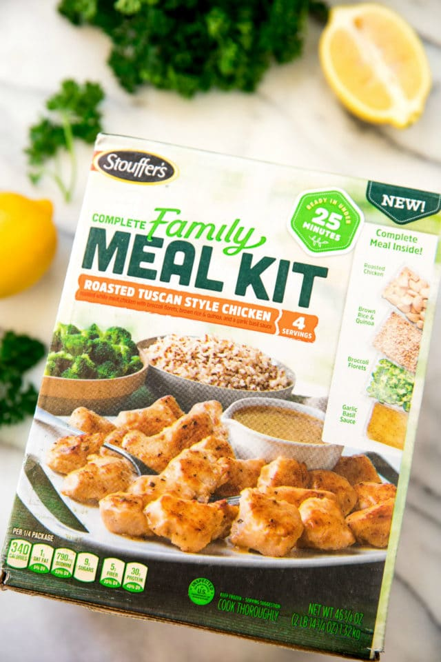 box of Stouffer's Complete Family Meal Kit
