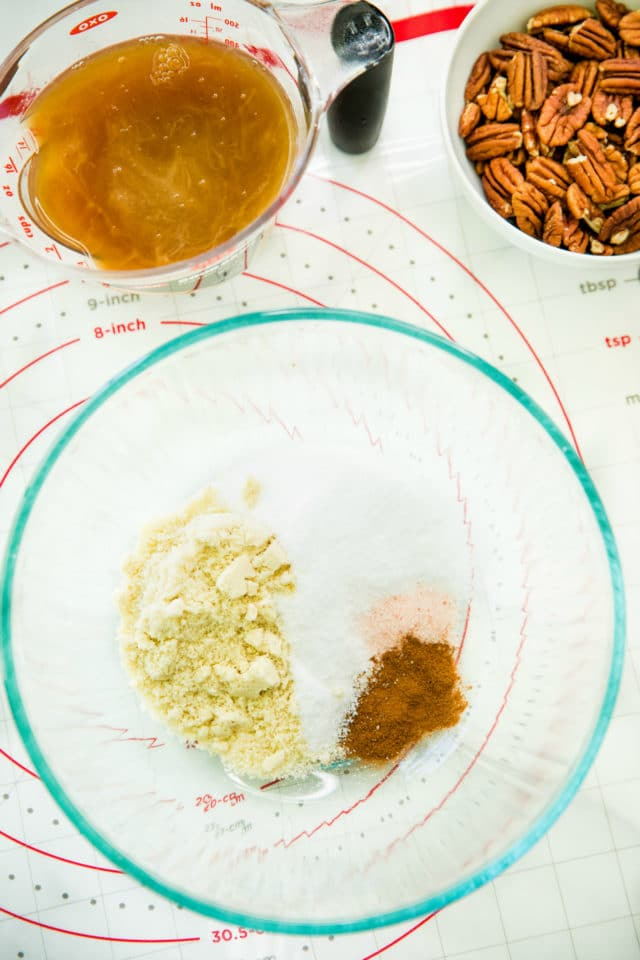 ingredients for pecan pie filling