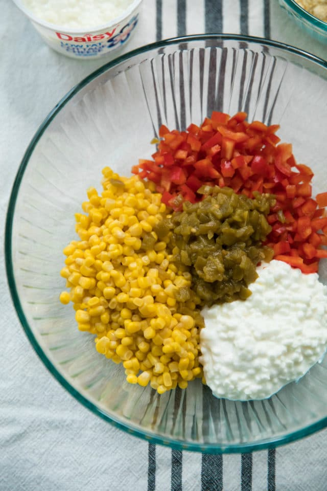 ingredients for Mexican cornbread muffins