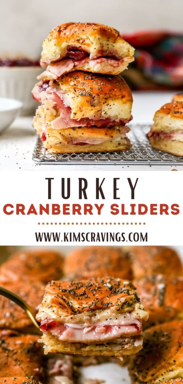 recipe for using Thanksgiving leftovers to make Turkey Cranberry Sliders