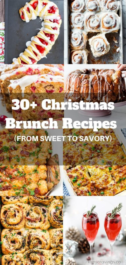 a collection of over 30 Christmas breakfast recipes from sweet to savory