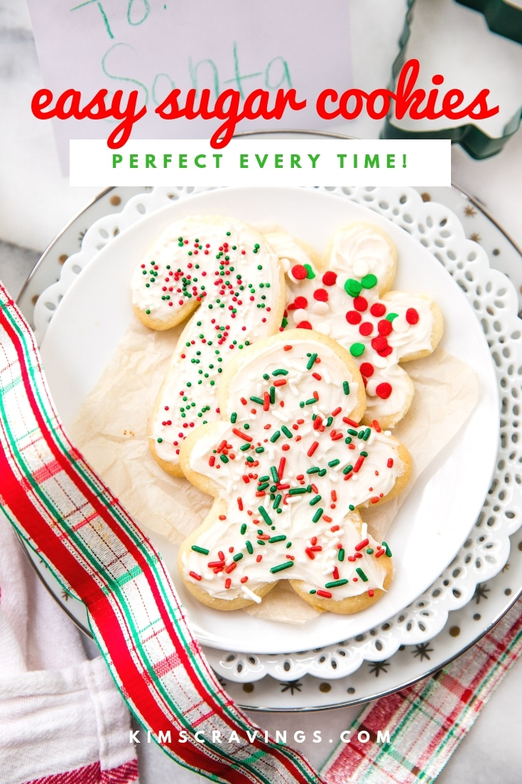 If you want to make classic sugar cookies for decorating, this is the best, easy sugar cookie recipe (and cream cheese frosting). Heck, if you want to make any cookie, this is your dough: Just add your choice of mix-ins to create endless delicious variations. #holidaybaking #christmascookies #sugarcookiecutouts #sugarcookies