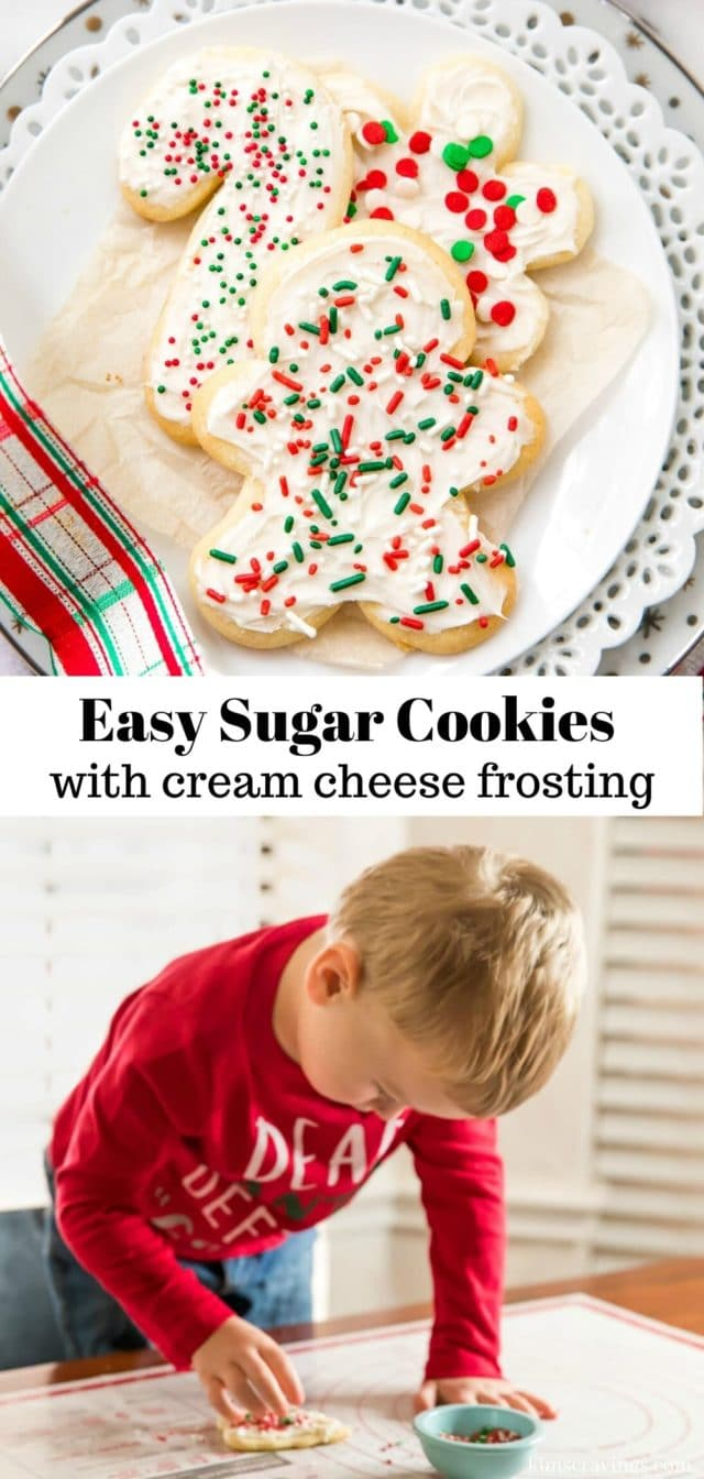 how to make cut-out sugar cookies for Christmas